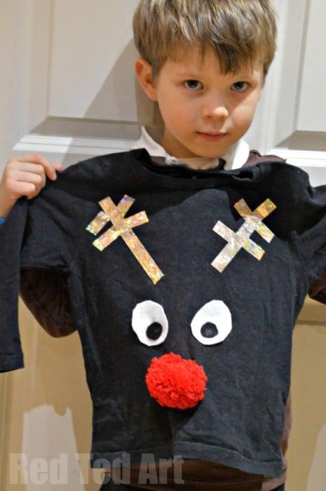 Easy Christmas Jumper DIY for Kids