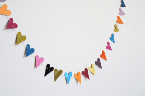 Mini heart Valentines day bunting