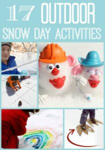 Outdoor Snow Day Activities - 17 ideas to get you and the kids outside