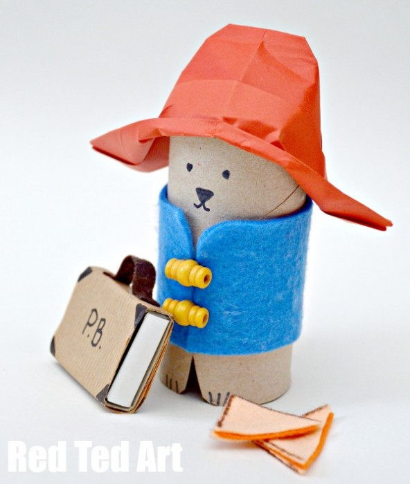 Paddington Bear Crafts - TP Roll Bear & Matchbox #Paddington #Paddingtonbear #paddingtonbearcrafts #tprolls