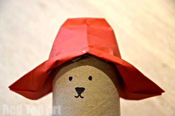 Paddington Bear Hat Craft. Paddington Bear Crafts - TP Roll Bear & Matchbox #Paddington #Paddingtonbear #paddingtonbearcrafts #tprolls