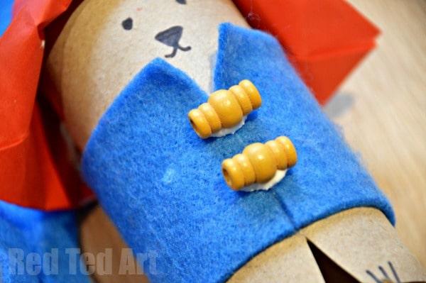 Paddington Craft - TP Roll Bear. Paddington Bear Crafts - TP Roll Bear & Matchbox #Paddington #Paddingtonbear #paddingtonbearcrafts #tprolls