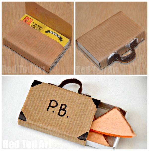 Paddington Craft - suitcase & marmalade sandwiches. Paddington Bear Crafts - TP Roll Bear & Matchbox #Paddington #Paddingtonbear #paddingtonbearcrafts #tprolls