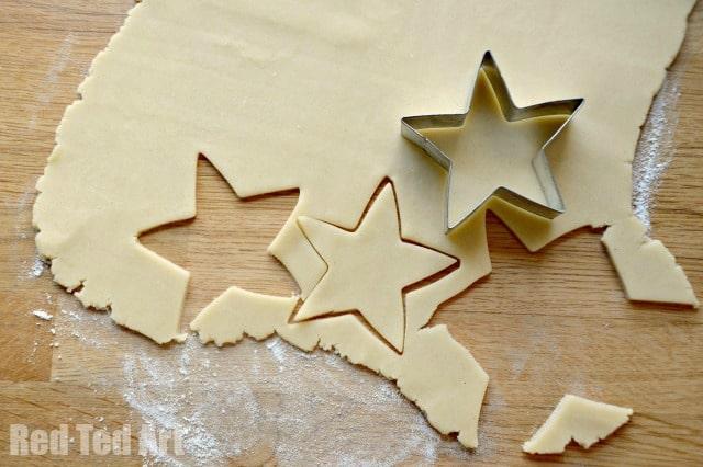 Santa Stars - easy recipe for kids cookies
