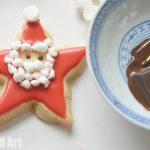 Santa Star Cookies - Santa Craft For Kids. Santa Craft For Kids #Santa #Santacrafts #santadiy #santadiys #crafts #craftsforkids #Christmas #fatherchristmas