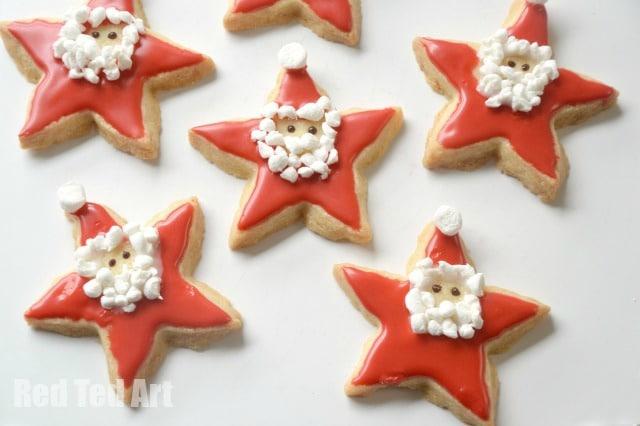 santa star cookies red ted arts blog