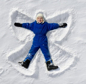 Snow Angel - snow day activities