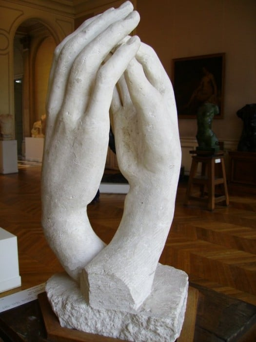 The Art Curator for Kids - 5 Artworks about Love - Auguste Rodin -The Cathedral -Photo Credit- Yair Haklai, Rodin Museum, Paris