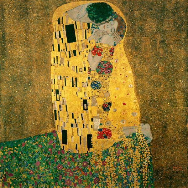 The Art Curator for Kids - 5 Artworks about Love - Gustav Klimt, the Kiss, 1907-08, Public Domain