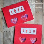 Valentine's Cards – Marbled Hearts