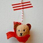 Walnut Ornaments – Winter Bears