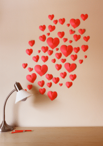 decorative Hearts wall for Valentines day