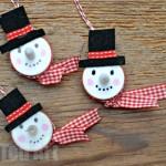 electric tea light snowman ornament
