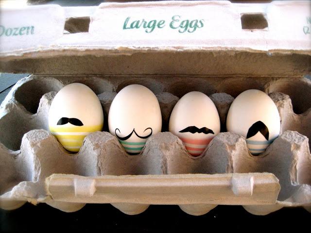 moustache easter eggs