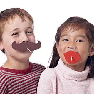 mustache ideas - lollipops