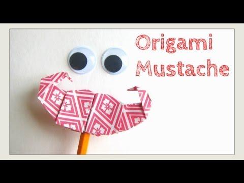 origami mustache