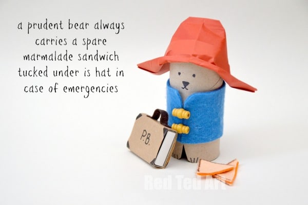 paddington bear quotes. Paddington Bear Crafts - TP Roll Bear & Matchbox #Paddington #Paddingtonbear #paddingtonbearcrafts #tprolls