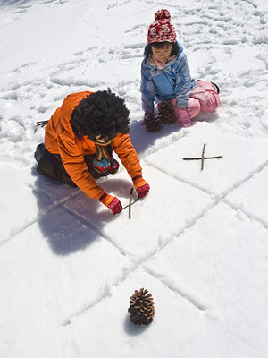 snow day activities snow tic tac toe