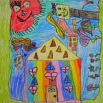 the Art Curator for Kids - Making Art with Kids - Chagall-Inspired Drawings-sqtn