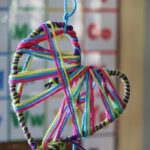 valentines crafts - yarn wrapped hearts (2)