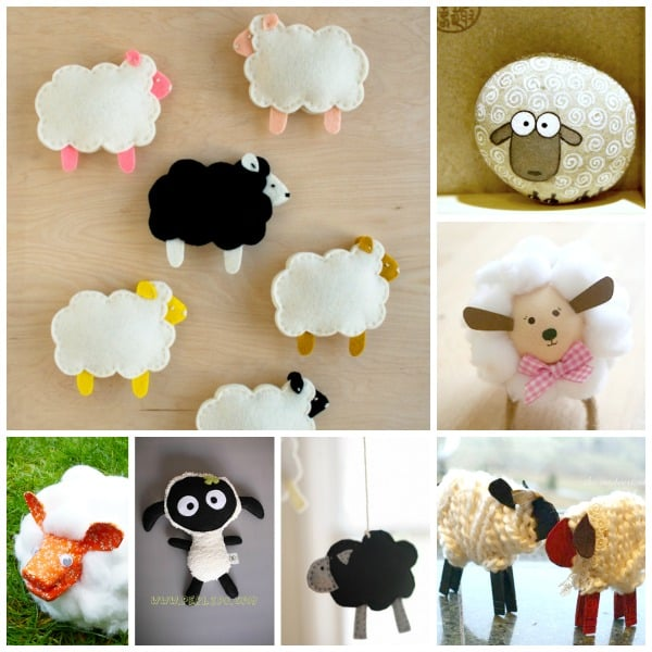 cardboard sheep template - 30 cute lamb sheep crafts red ted art 39 s blog