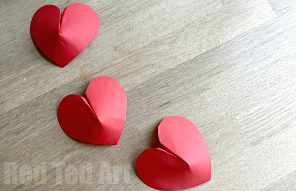 3D Paper Hearts How To