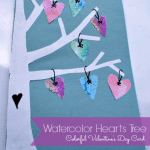 Watercolor Hearts Card – Handmade Valentines Cards for Kids