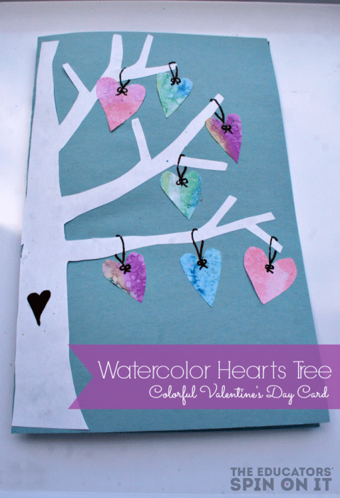 Colorful Hearts Tree for Valentine's Day from The Educators' Spin On it