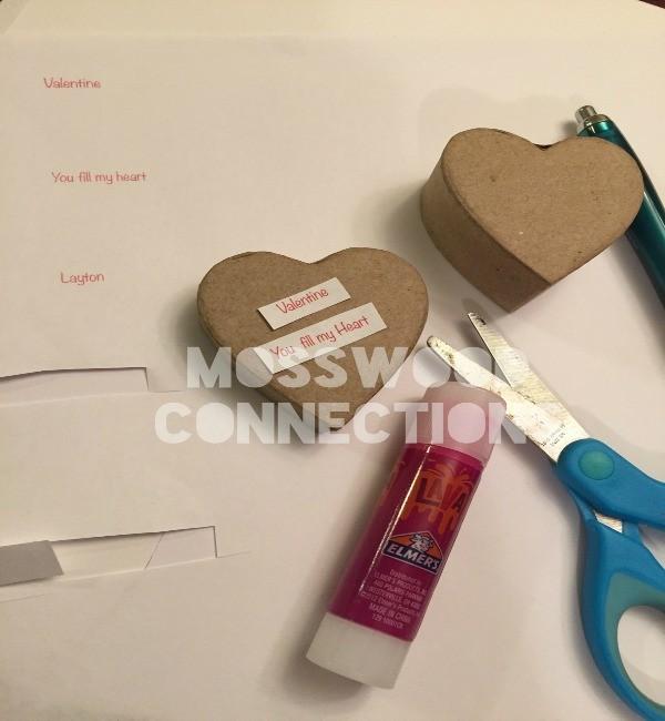 Confetti Heart Boxes Materials