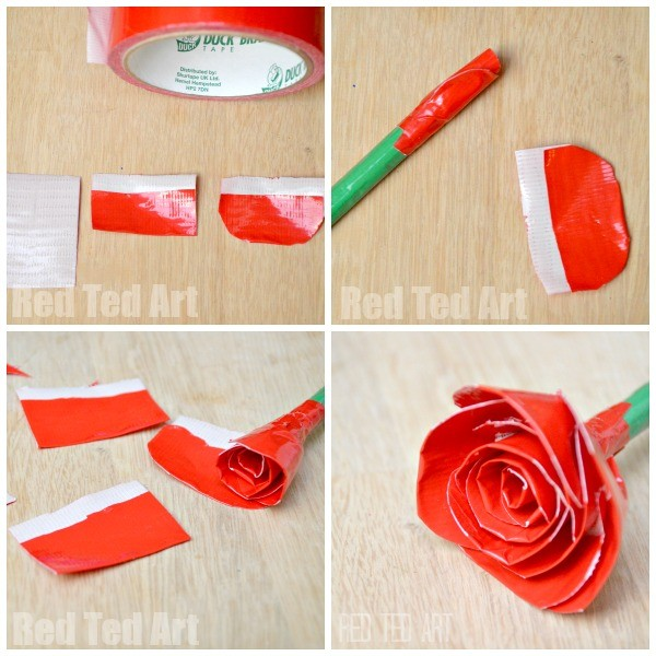 Duct Tape Roses Tutorial
