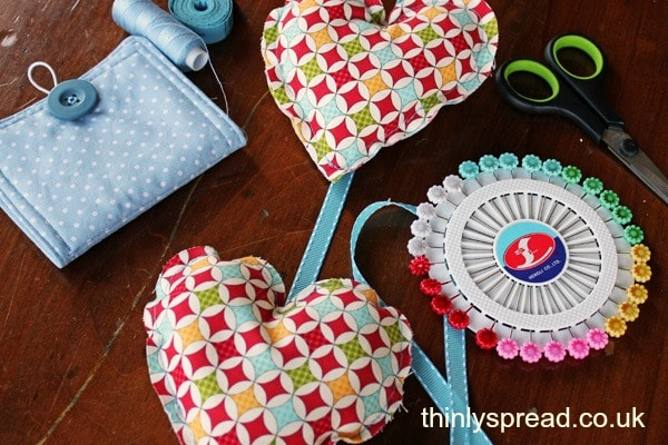 Fabric Hearts Sewing Project