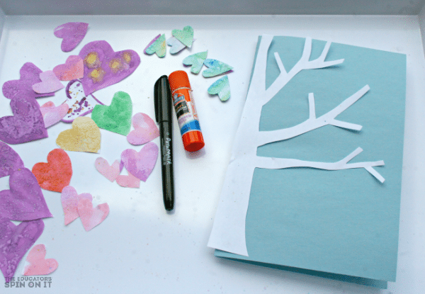 Heart Themed Valentine's Day Card with Tree by Kim Vij