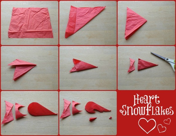 How to Make Heart Snowflakes from Paper