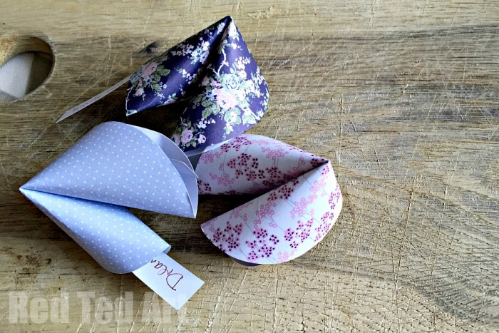 Paper Fortune Cookies How To