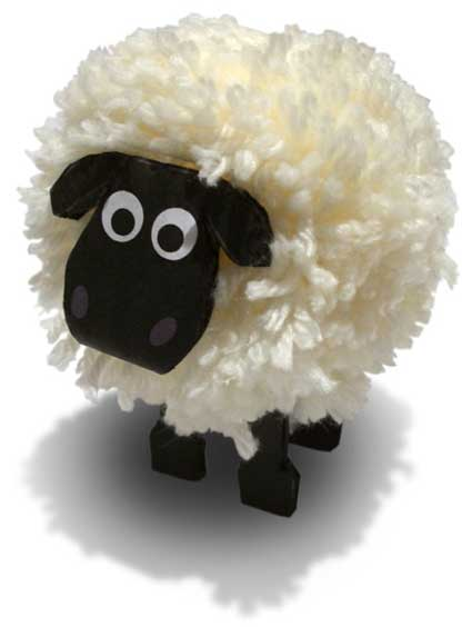30 cute lamb sheep crafts red ted art 39 s blog for Cute pom pom crafts