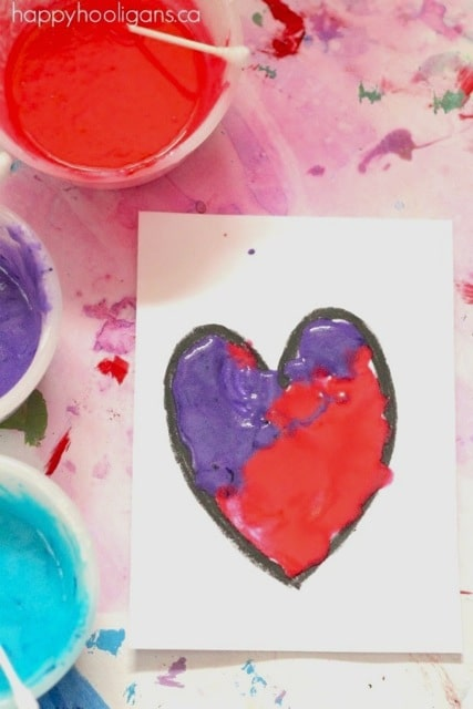 Puffy Paint Recipe Valentines Hearts (2)