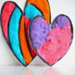 Puffy Paint Recipe (& a Heart Garland for Valentine's Day)
