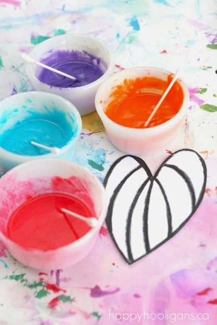 Puffy Paint Recipe Valentines Hearts (4)