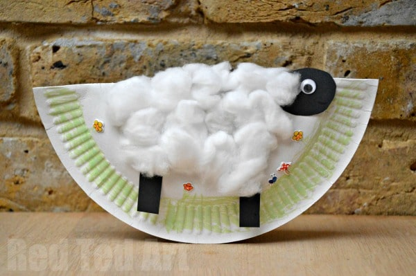 Rocking Paper Plate Sheep Craft
