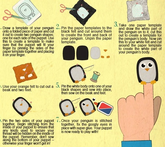 Penguin Finger Puppets & More Cute Cute CUTE Crafts!