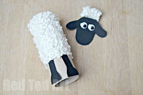 Tp Roll Shaun The Sheep Craft Ideas Red Ted Art S Blog