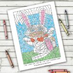 Valentine's Day Colouring by Numbers Pages