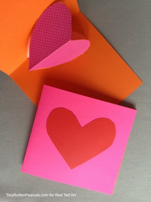 Valentines Cards pop up hearts (4)