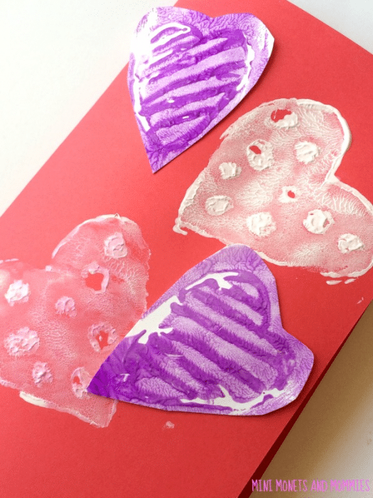 Valentines Day Cards for Kids - printed hearts (3)