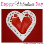 Valentine's Day Craft – Salt Dough Heart Footprints