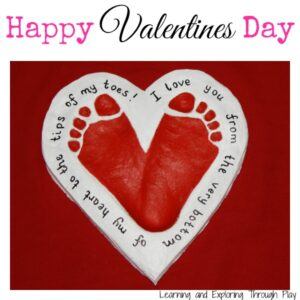 Valentine's Day Crafts - Footprint Hearts