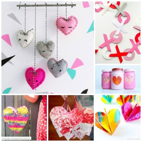How to felt Hearts for Valentines Day. Adorable Needle Felted Heart Wall Decorations. Teach kids how to needle felt #needlefelting #felting #howto #valentines #hearts