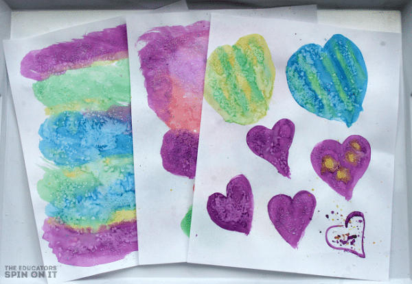 Water Color Heart Paper from The Educators' Spin On it