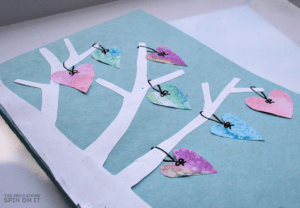 Watercolor heart crafts - handmade valentines