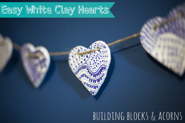 White Clay Heart Bunting (Valentine's Day Decoration)
